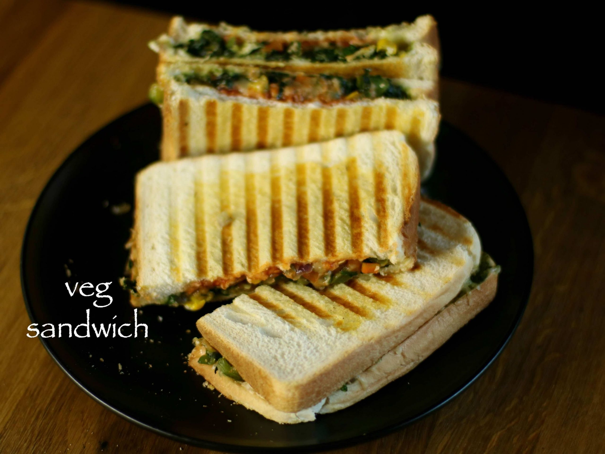 Veg sandwich recipe | easy vegetable cheese sandwich