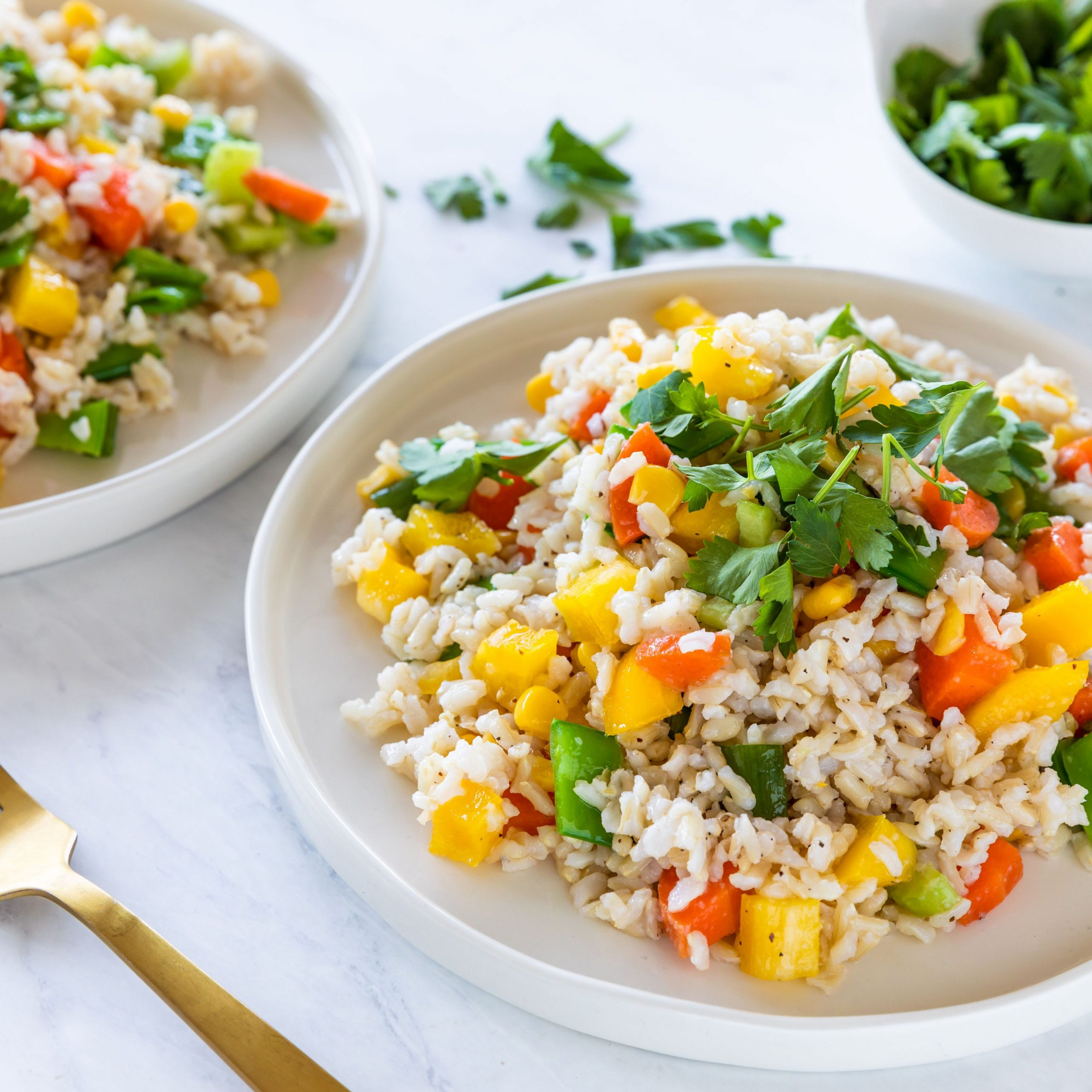 Vegan Asian Rice Salad