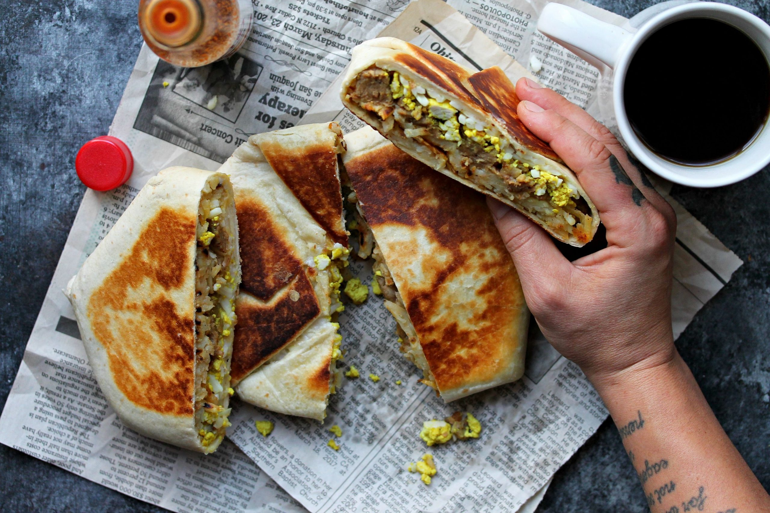 Vegan Breakfast Crunchwrap AKA The Brunchwrap