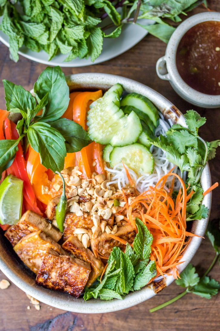 Vegan Bún Chay (Vietnamese Noodle Salad) - The Wanderlust Kitchen