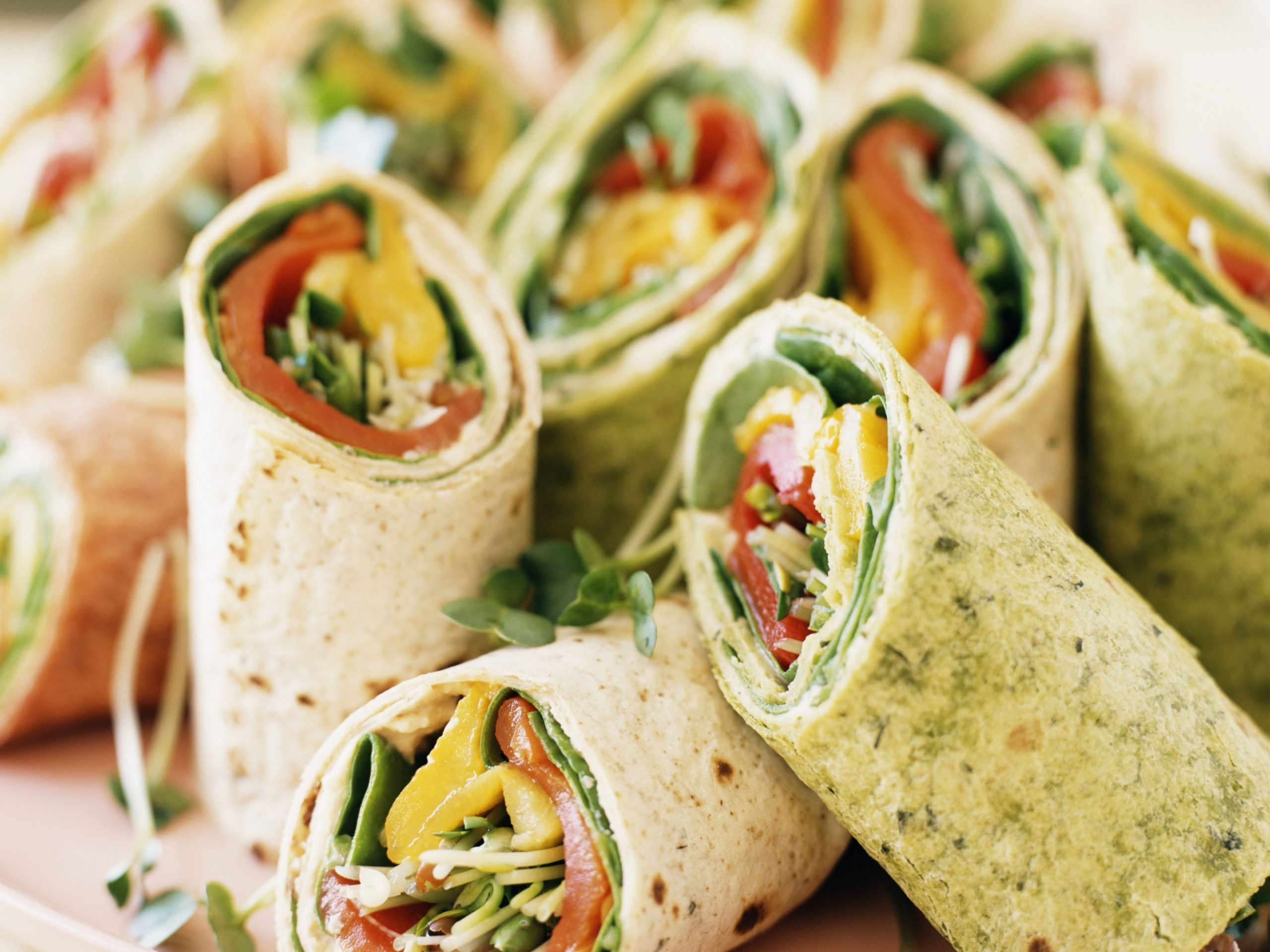 Vegan Cream Cheese Veggie Wraps - Recipes Sandwich Wraps
