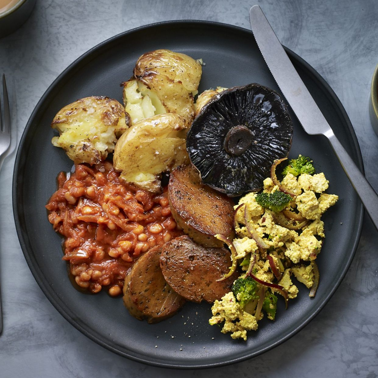 Vegan fried breakfast recipe - BBC Food