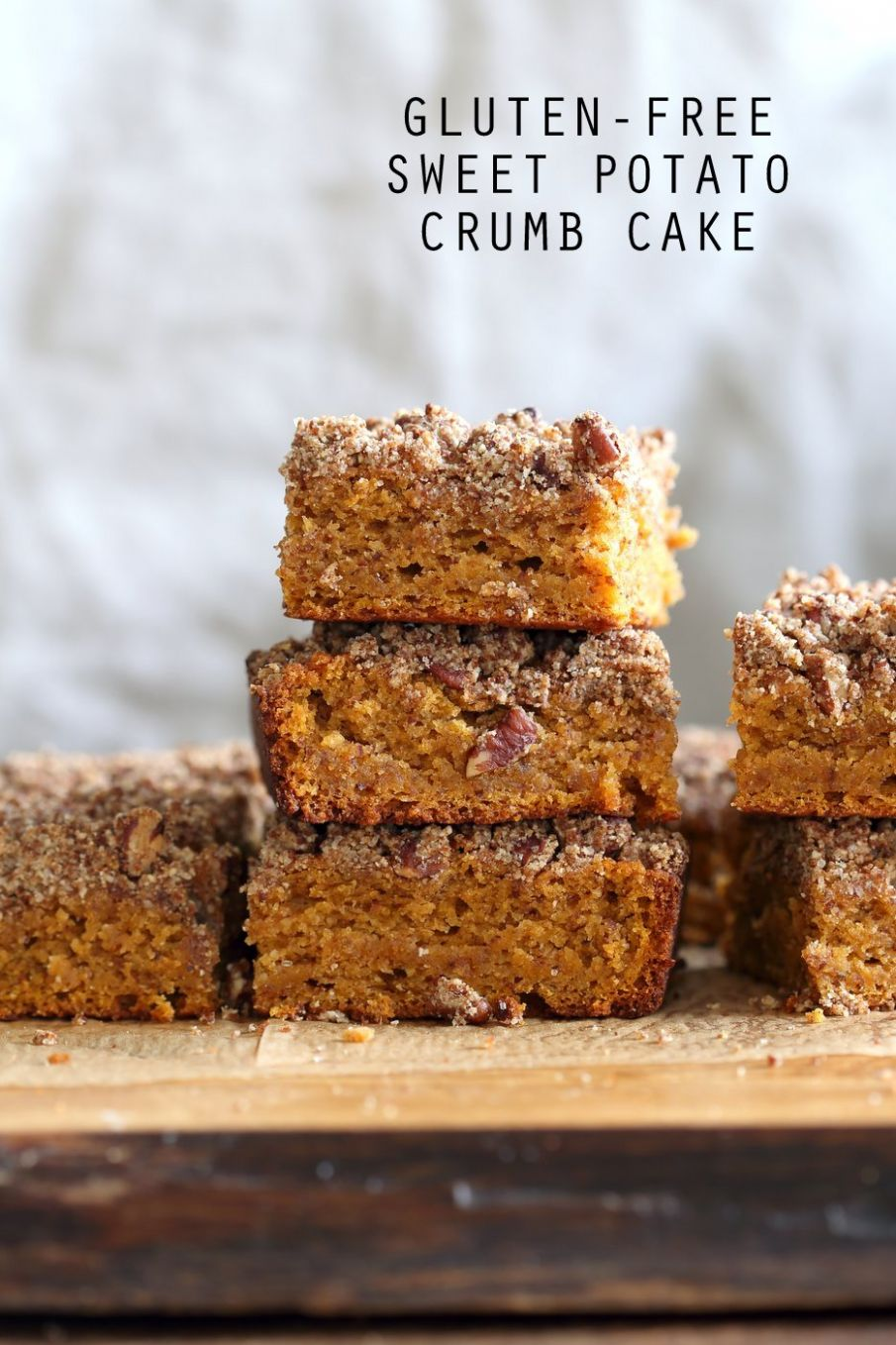 Vegan Gluten free Coffee Cake - Sweet Potato Pecan Crumb Cake