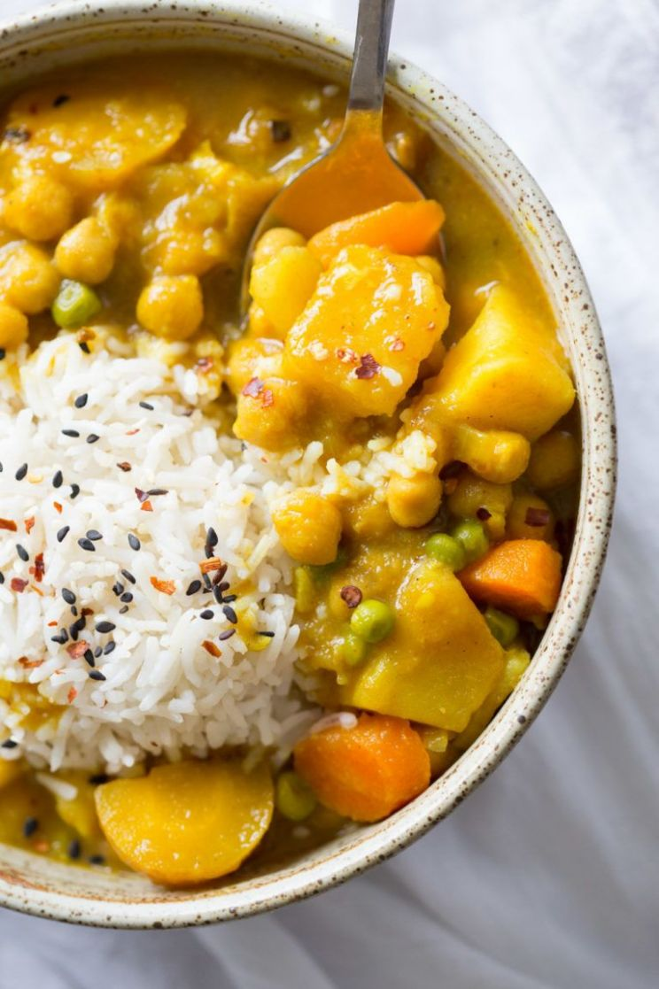 Vegan Japanese Curry in Instant Pot (saucepan option)