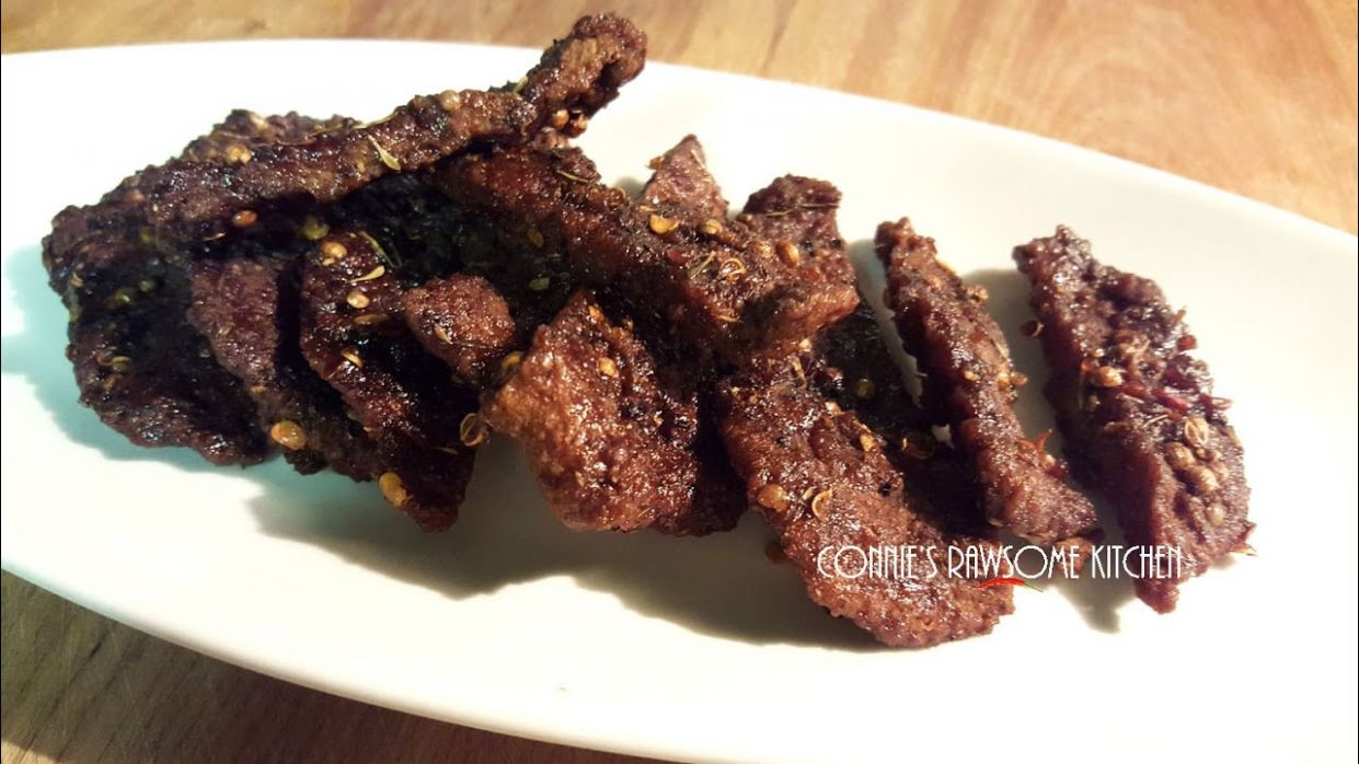 VEGAN JERKY JERK! Beef seitan jerky | Connie's RAWsome kitchen