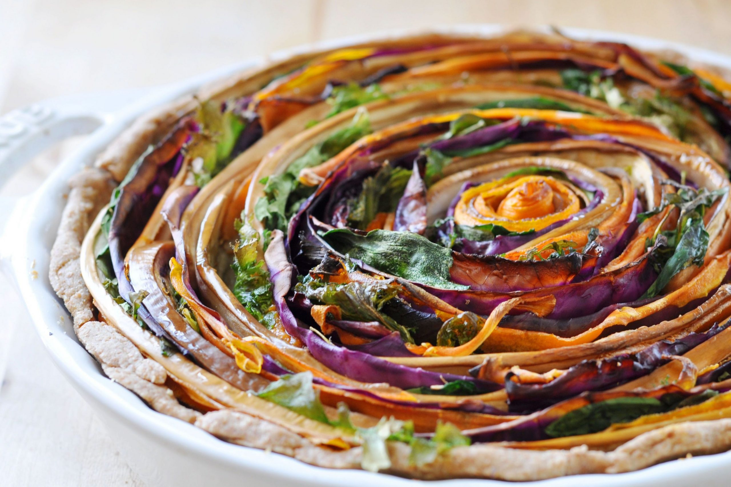 Vegan Spiral Vegetable Tart