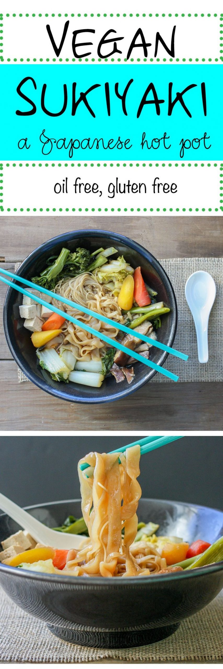 Vegan Sukiyaki, A Japanese Hot Pot - Vegetarian Recipes Japanese Food