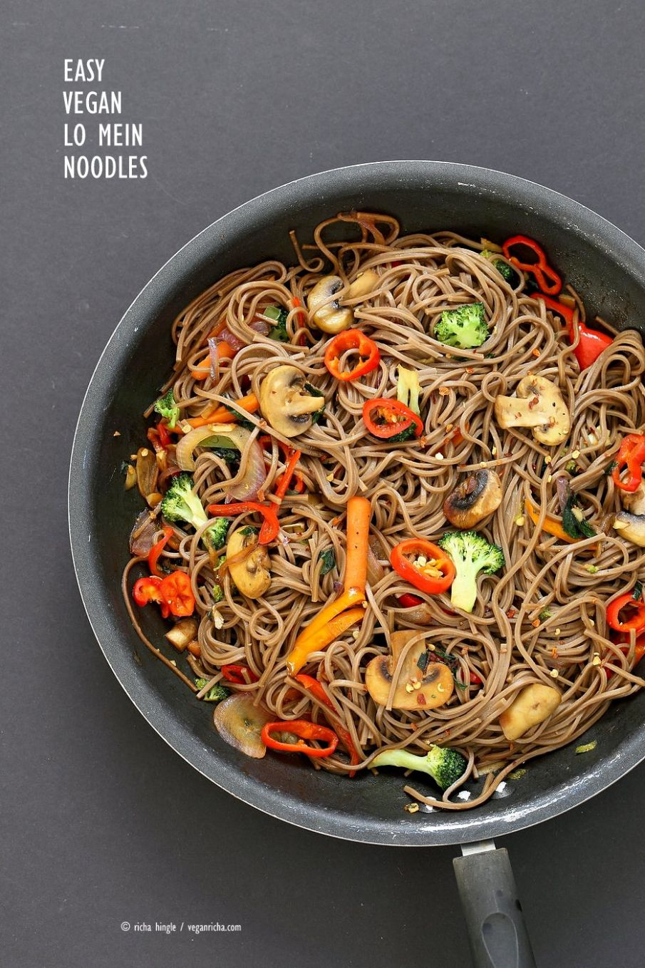 Vegan Vegetable Lo Mein with Soba Noodles