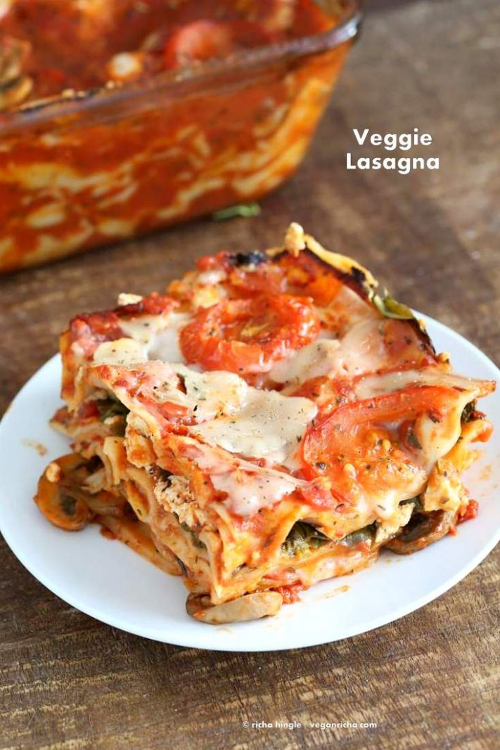 Vegan Veggie Lasagna - Simple Recipes Vegetarian Lasagna
