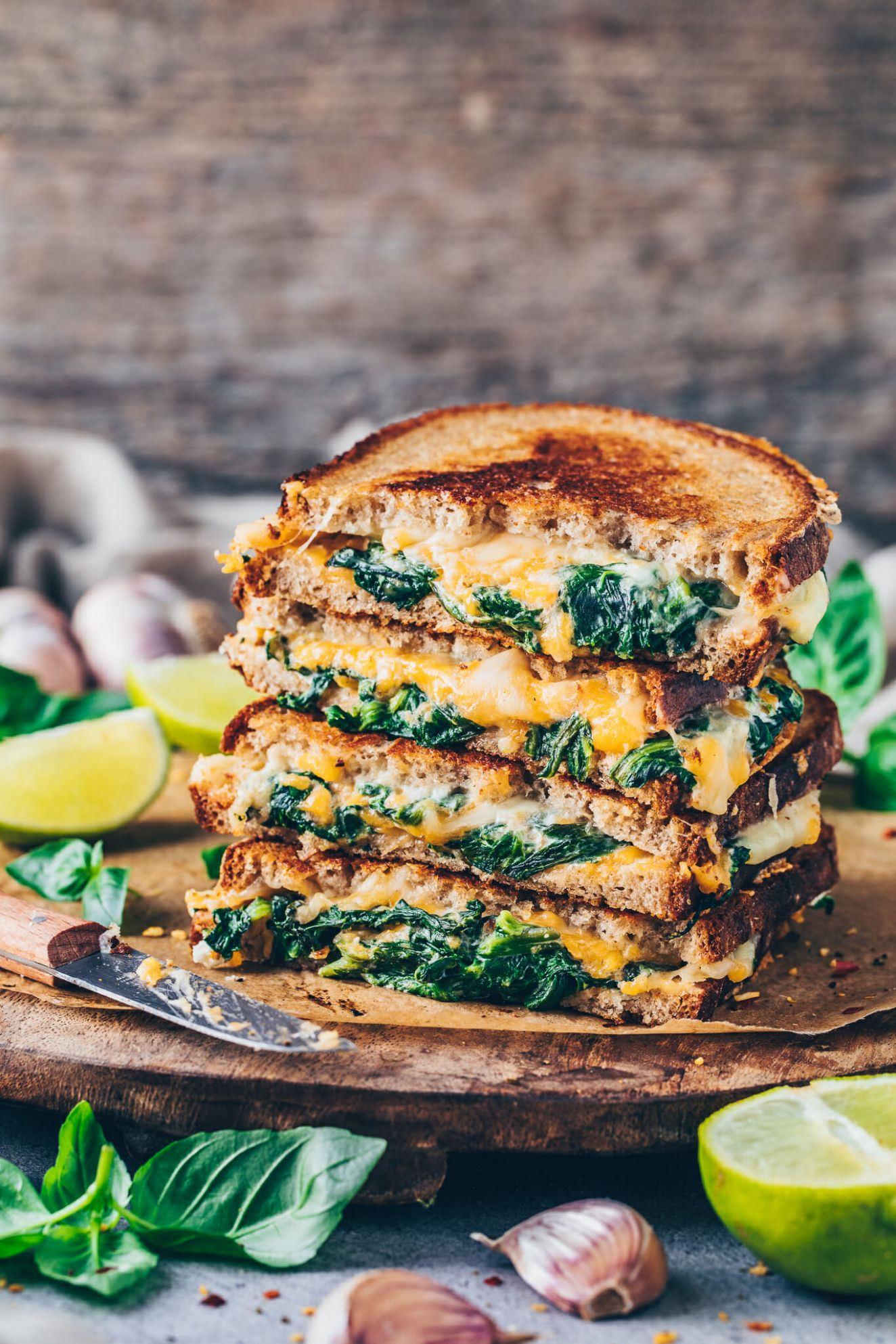 Veganes Grilled Cheese Sandwich