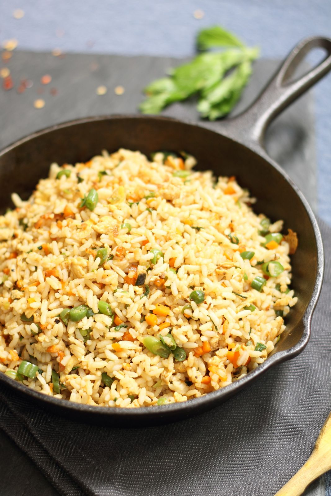 Vegetable and Egg Fried Rice from Left over Rice - Recipe Egg Vegetable Fried Rice
