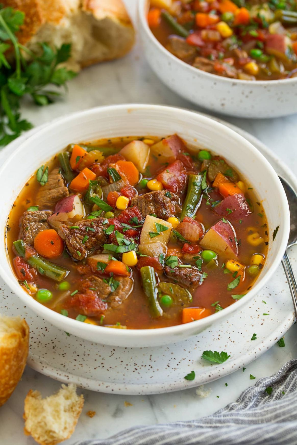 Vegetable Beef Soup - Cooking Classy - Recipes Beef Vegetable Soup