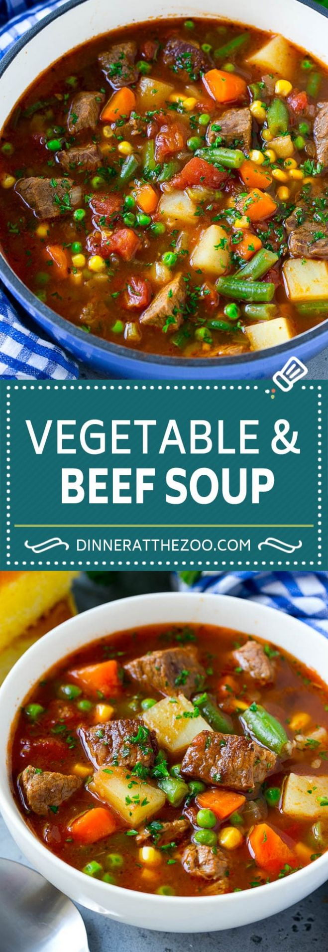 Vegetable Beef Soup - Dinner at the Zoo - Recipes Beef Vegetable Soup