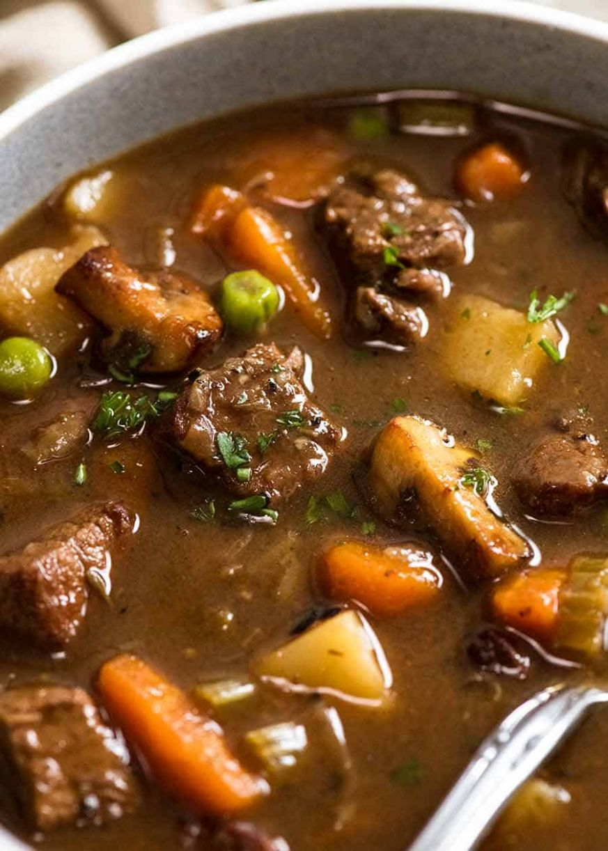 Vegetable Beef Soup (Fall apart beef!) - Recipes Beef Vegetable Soup
