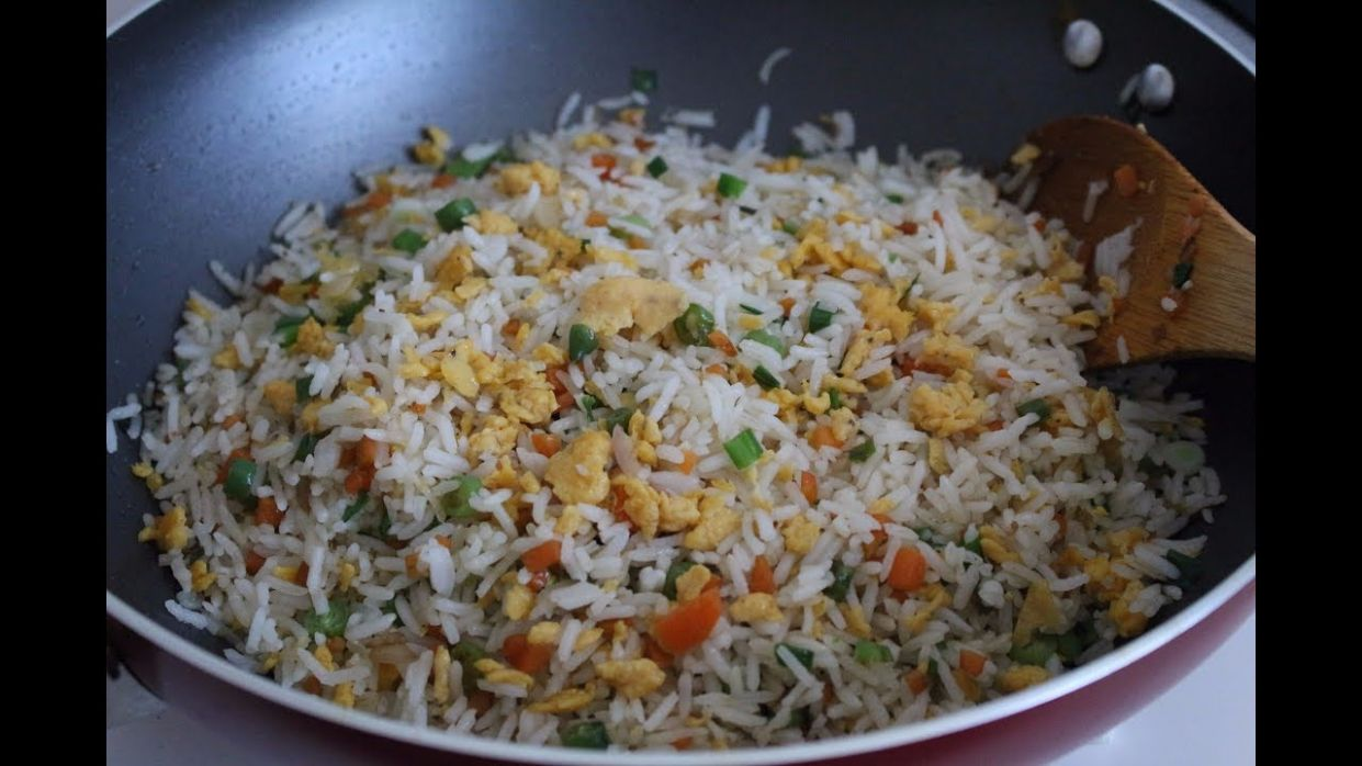 Vegetable Egg fried Rice l Easy Fried Rice Recipe
