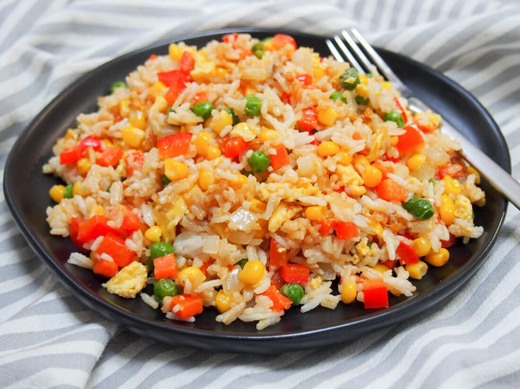 Vegetable egg fried rice - Recipes Rice And Eggs