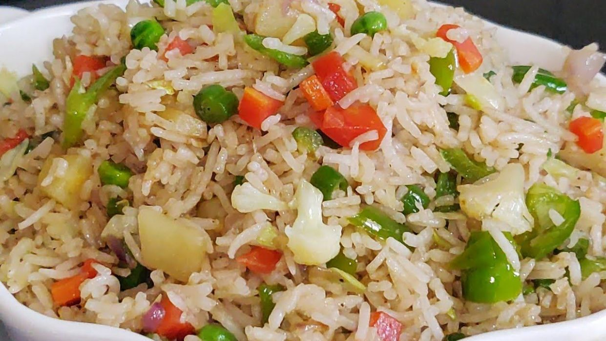 Vegetable Fried Rice Recipe Video In Hindi | Indo Chinese ...