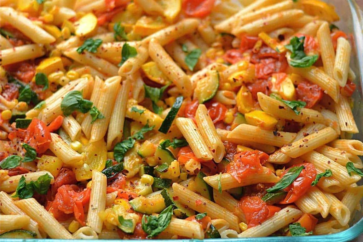 Vegetable Garden Pasta - Pasta Recipes Red Sauce Veg