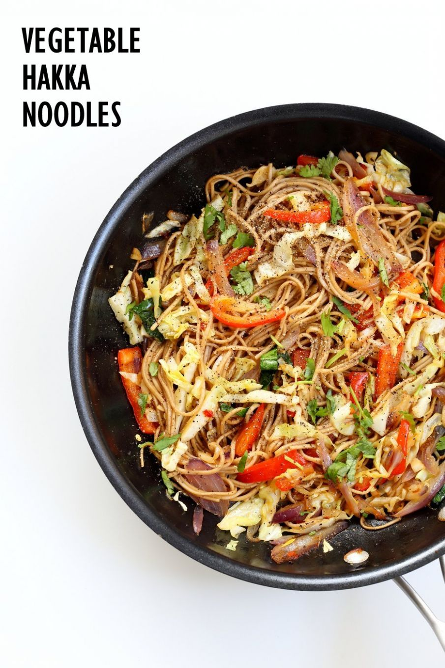 Vegetable Hakka Noodles - 8 Pot Indo Chinese Noodles
