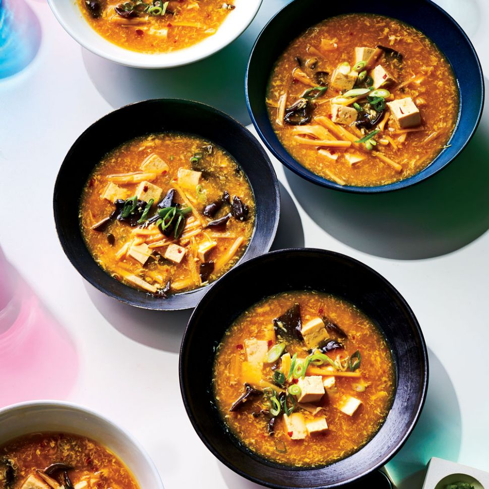 Vegetable Hot-and-Sour Soup - Recipe Vegetarian Hot And Sour Soup
