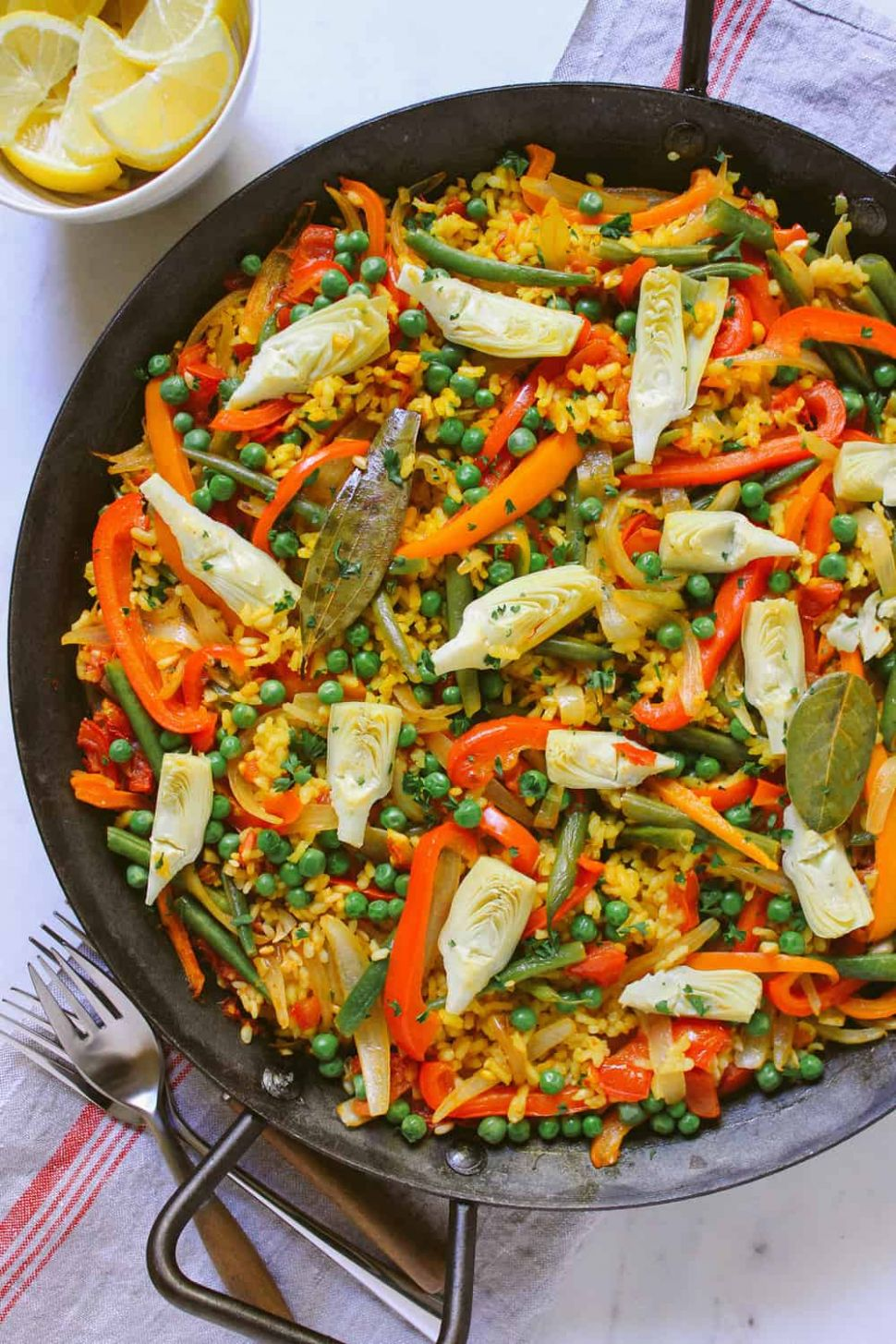 VEGETABLE PAELLA - Vegetable Recipes With Ingredients And Procedure