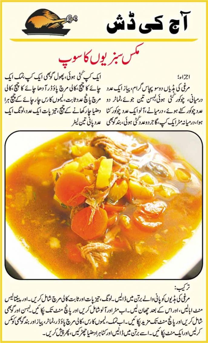Vegetable Recipes Pakistani in Urdu Recipes | Vegetable soup ...