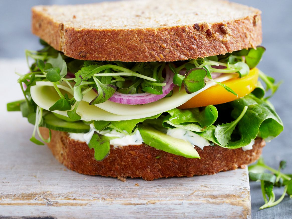 Vegetable Sandwich with Dill Sauce - Sandwich Recipes Vegetable
