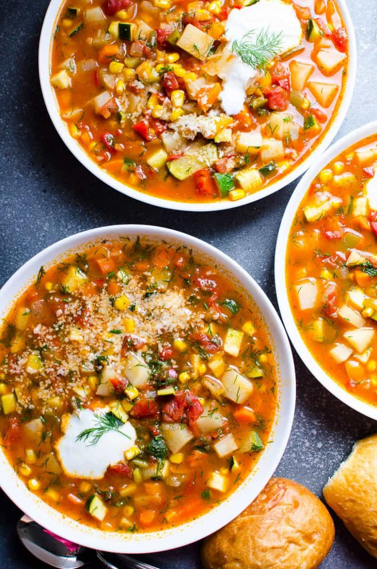 Vegetable Soup So Easy!!! - iFOODreal - Healthy Family Recipes