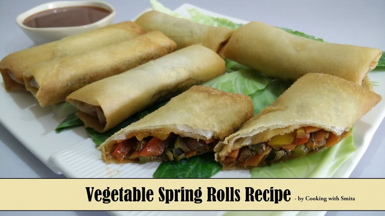 Vegetable Spring Rolls Recipe in Hindi by Cooking with Smita | Crispy &  Tasty Chinese Appetizer