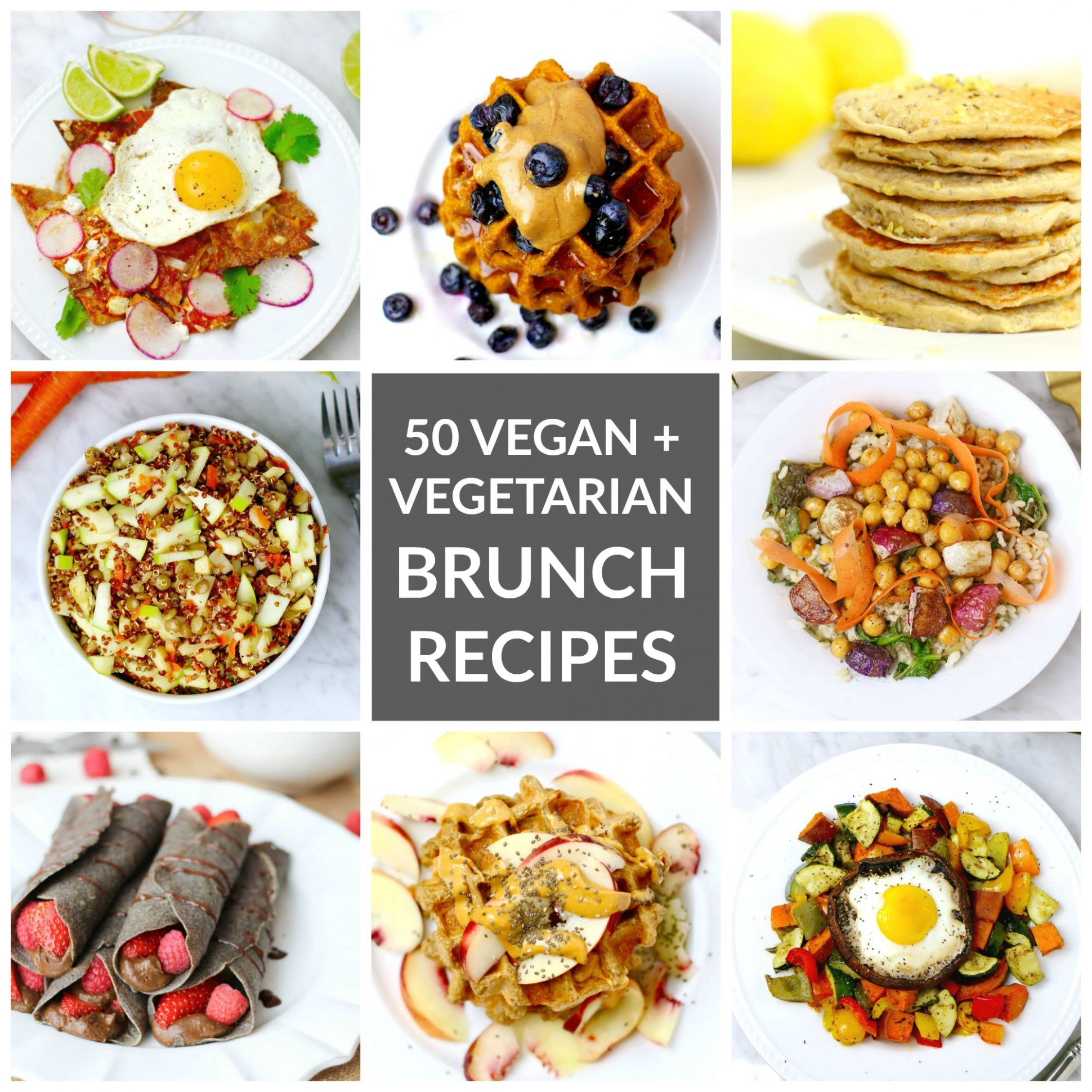 Vegetarian and Vegan Mother's Day Brunch Recipes // Whitney E. RD