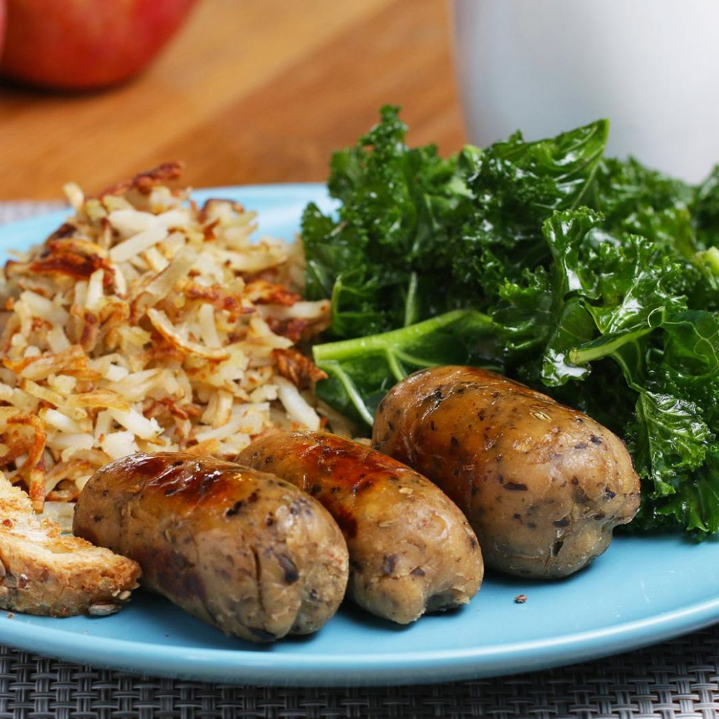 Vegetarian Breakfast Apple Sausages Recipe by Tasty - Recipes Vegetarian Sausages