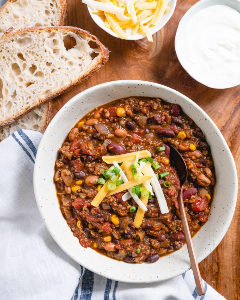 Vegetarian Chili (All of Our Best Secrets!) - Simple Recipes Vegetarian Chili