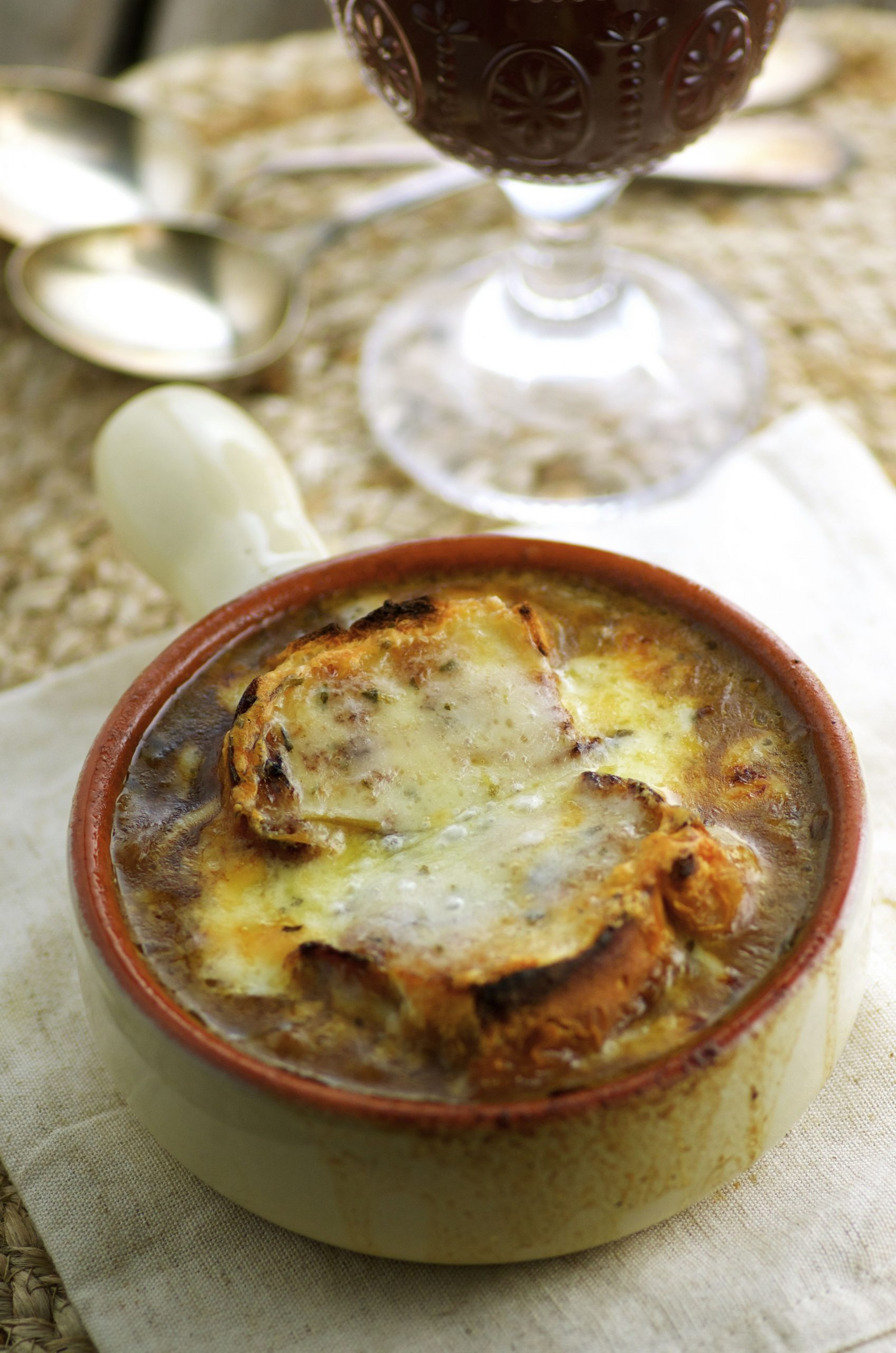 Vegetarian French Onion Soup - May I Have That Recipe - Recipe Vegetarian Onion Soup