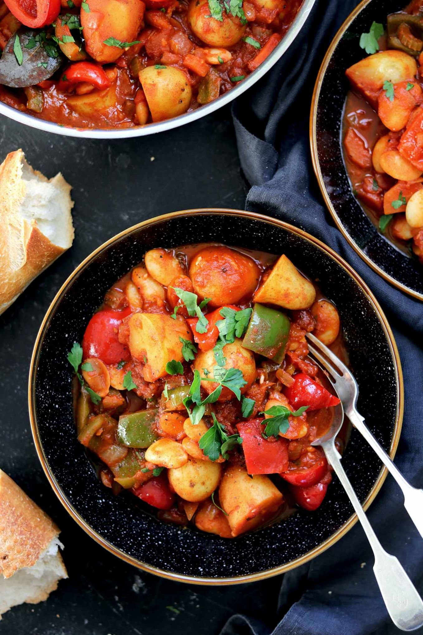 Vegetarian Goulash with Butter Beans