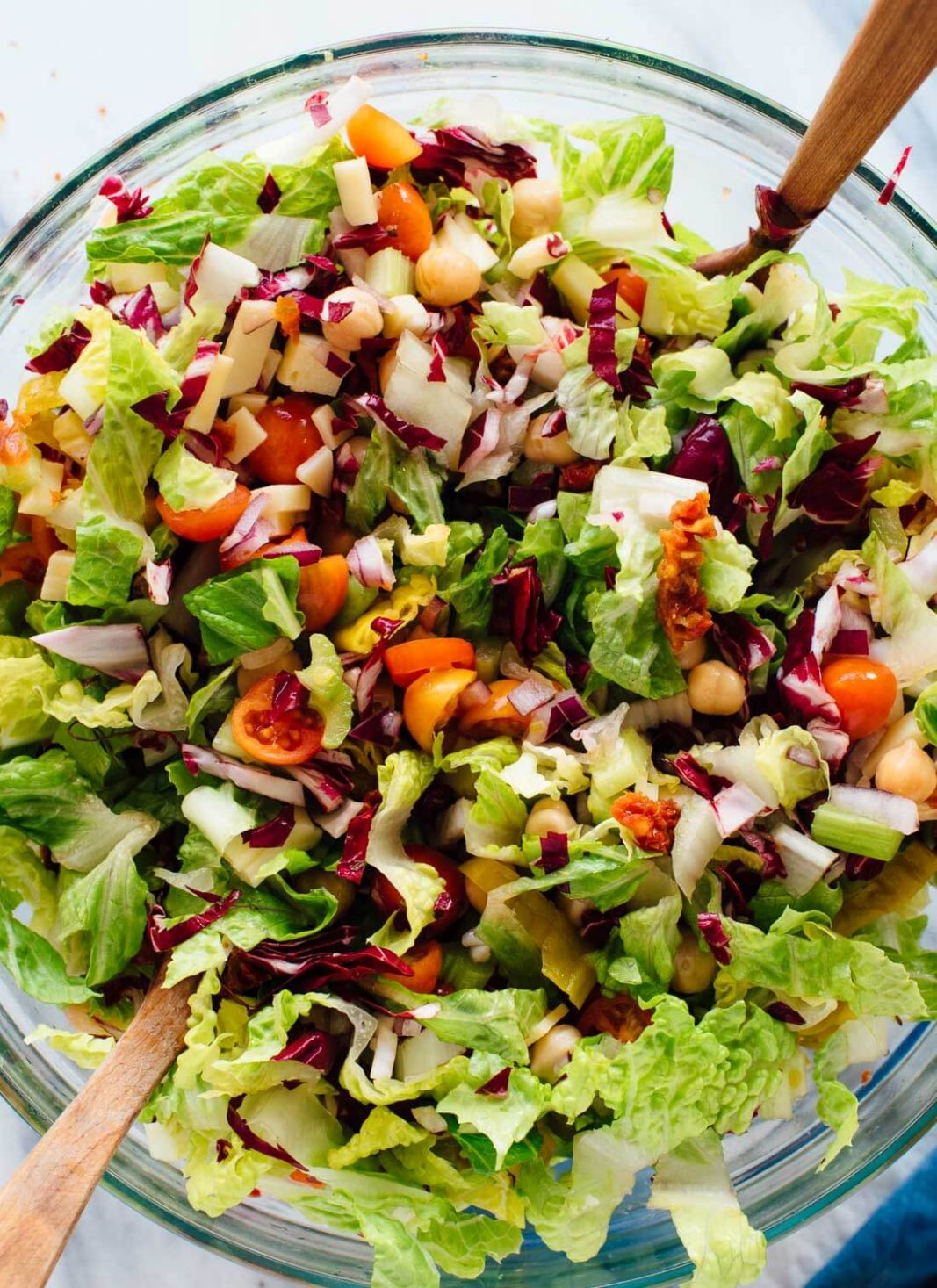 Vegetarian Italian Chopped Salad - Salad Recipes Veg For Dinner