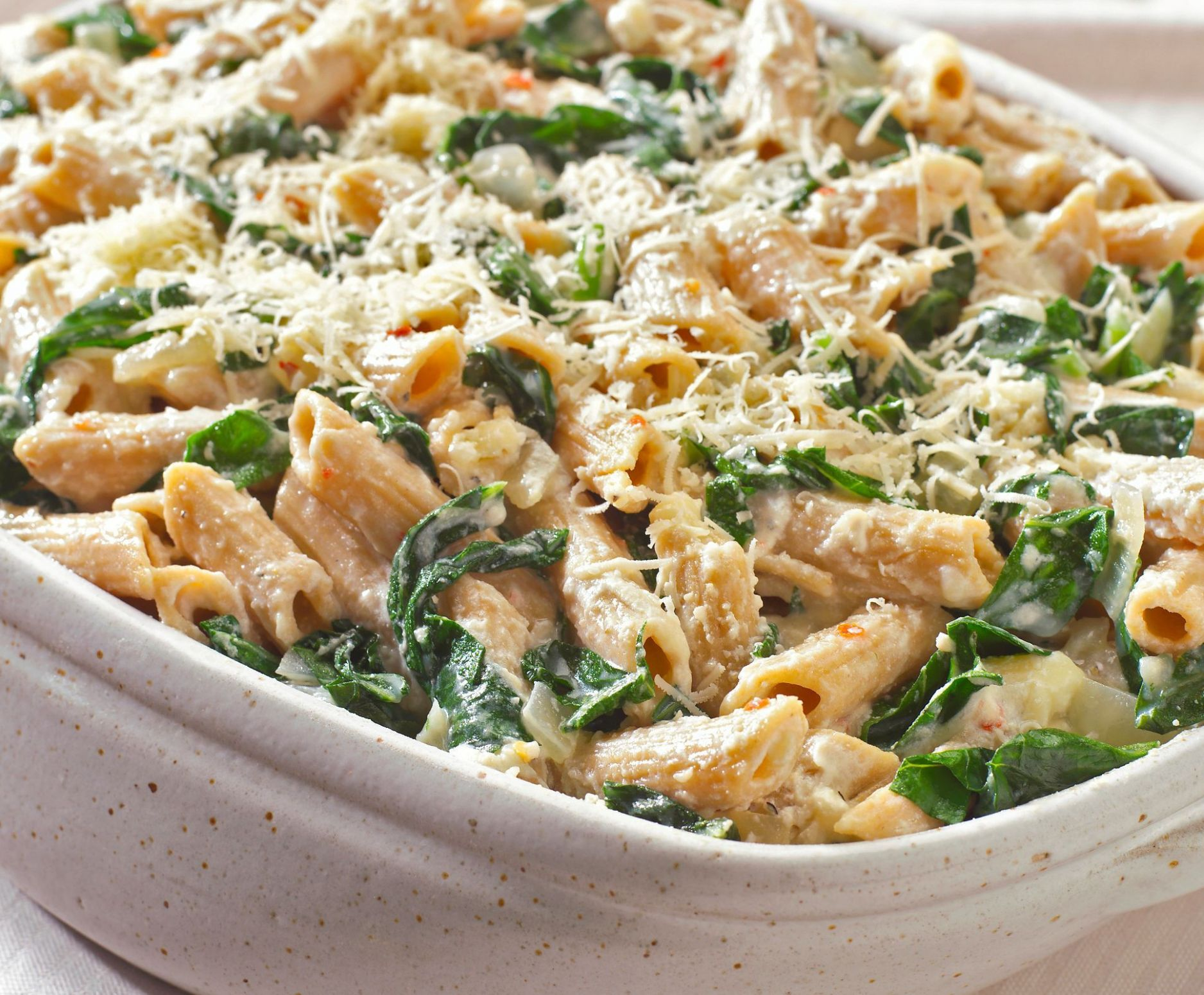 Vegetarian Oven-Baked Pasta With Ricotta Cheese and Spinach - Pasta Recipes Using Ricotta Cheese