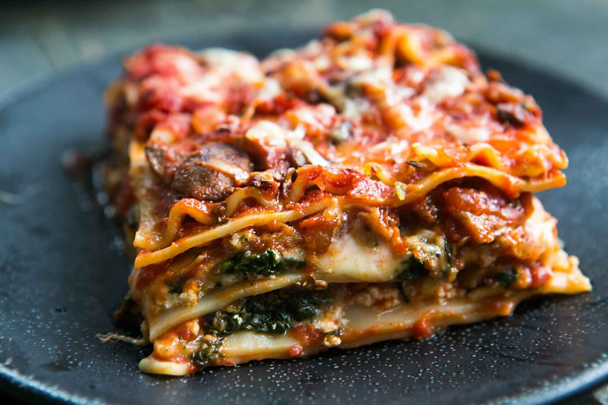 Vegetarian Spinach and Mushroom Lasagna - Simple Recipes Vegetarian Lasagna