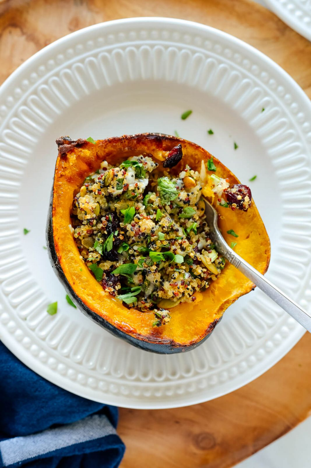 Vegetarian Stuffed Acorn Squash - Vegetable Recipes For Thanksgiving
