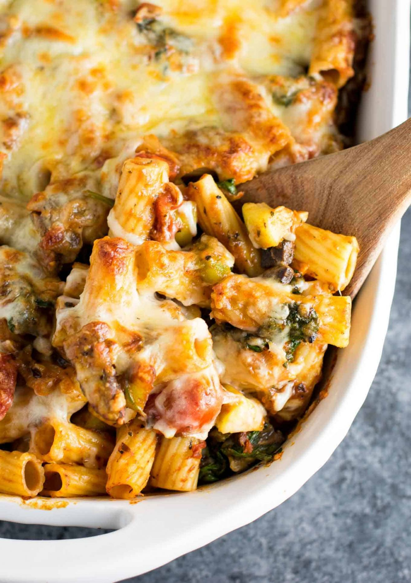 Veggie Lover's Baked Rigatoni - Build Your Bite