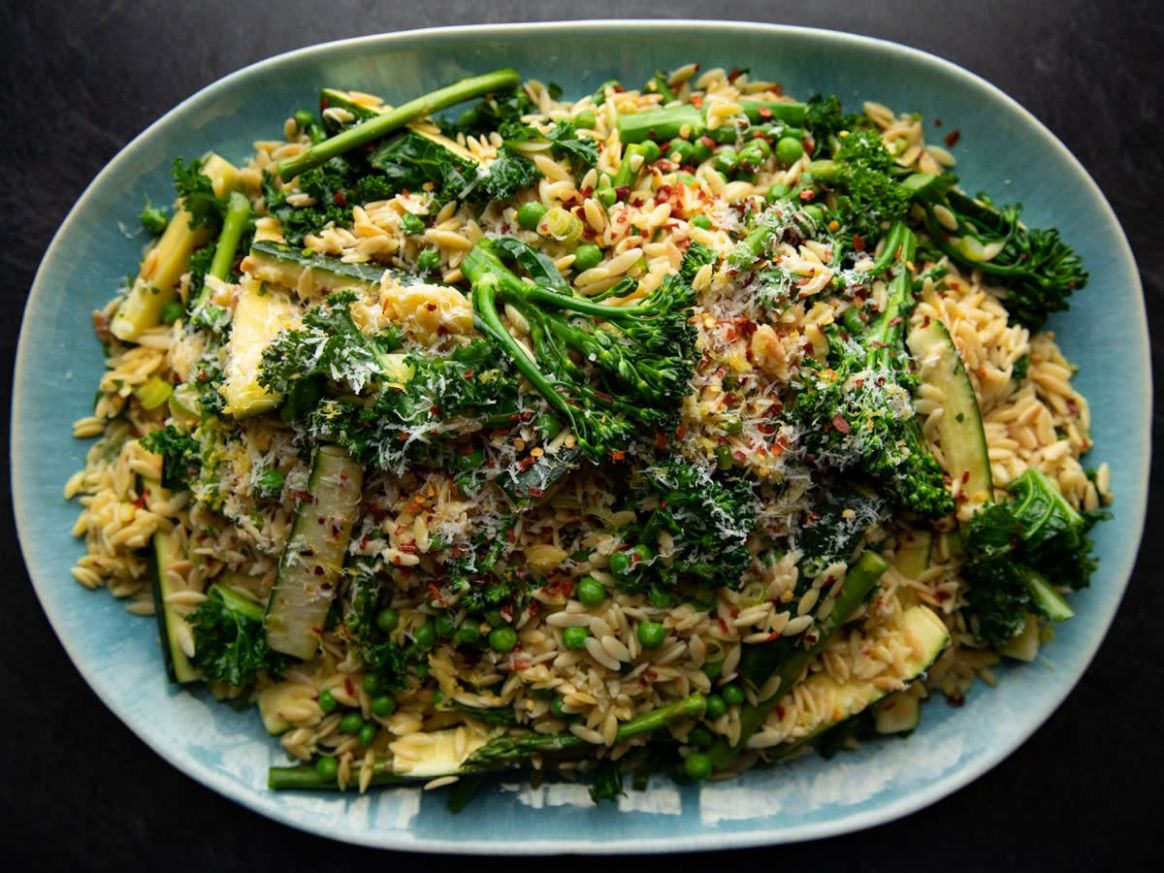 Very Green Orzotto - Dinner Recipes Food Network