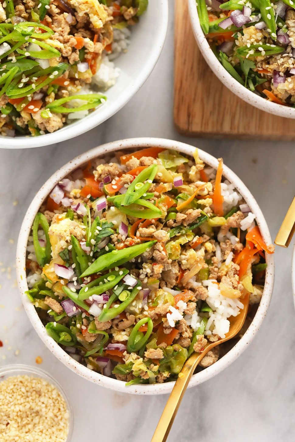 Vibrant Egg Roll in a Bowl (low carb!) - Fit Foodie Finds