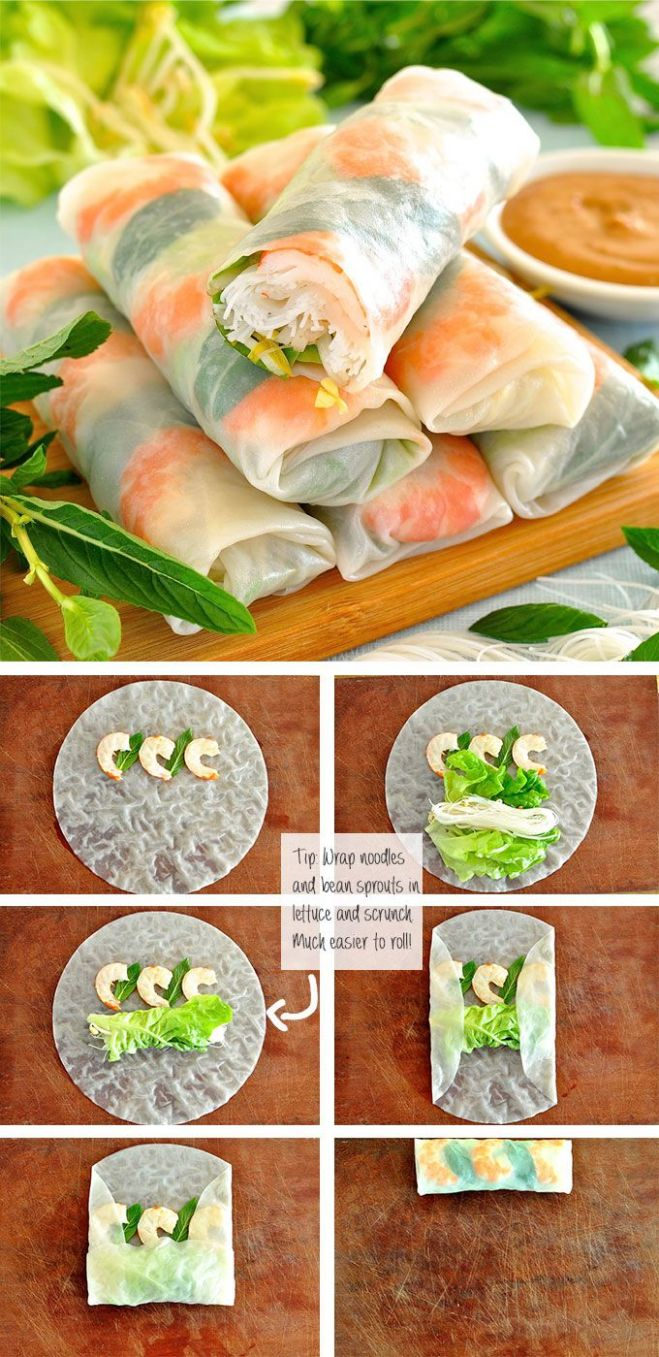 Vietnamese Rice Paper Rolls (Spring Rolls) - Recipes Rice Paper Wraps