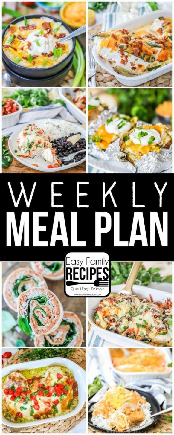Weekly Meal Plan · Easy Family Recipes - Recipes Dinner This Week
