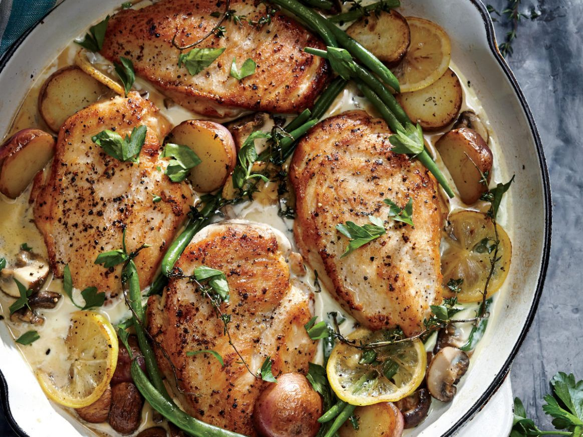 Weeknight Lemon Chicken Skillet Dinner - Recipes Chicken Dishes