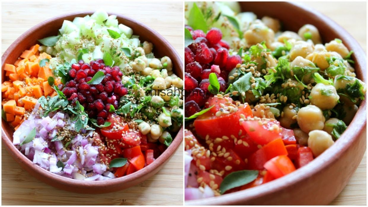 Weight Loss Salad Recipe For Dinner - How To Lose Weight Fast With Salad -  Indian Veg Meal/Diet Plan - Salad Recipes Lose Weight