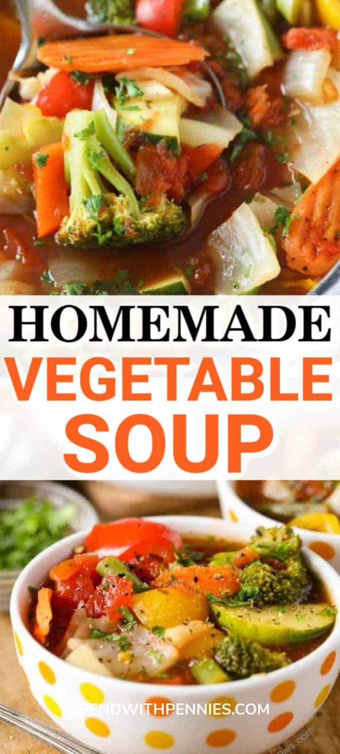 Weight Loss Vegetable Soup with Amazing Flavor - Spend With Pennies - Recipe Weight Loss Vegetable Soup