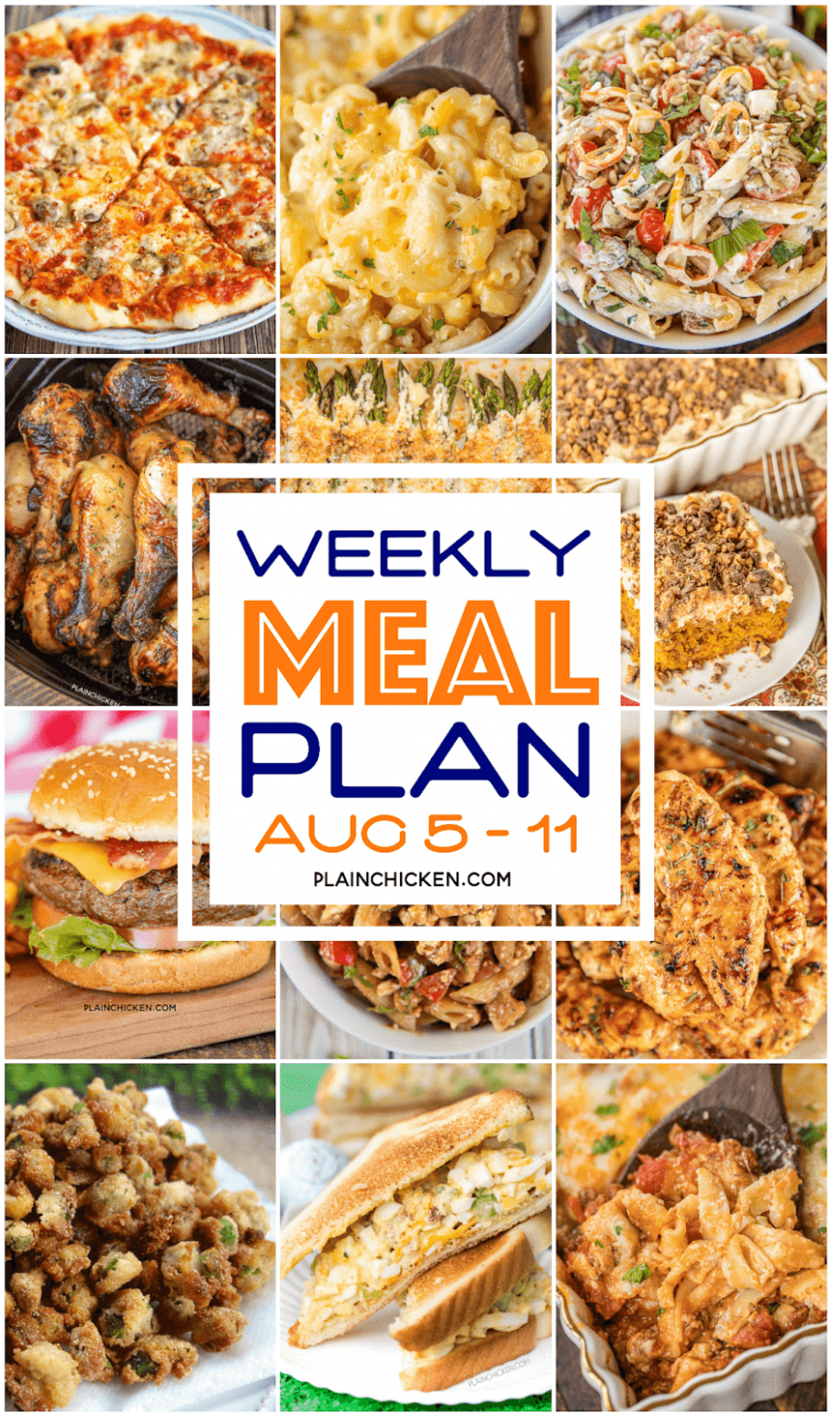 What's For Dinner? Weekly Meal Plan - Plain Chicken