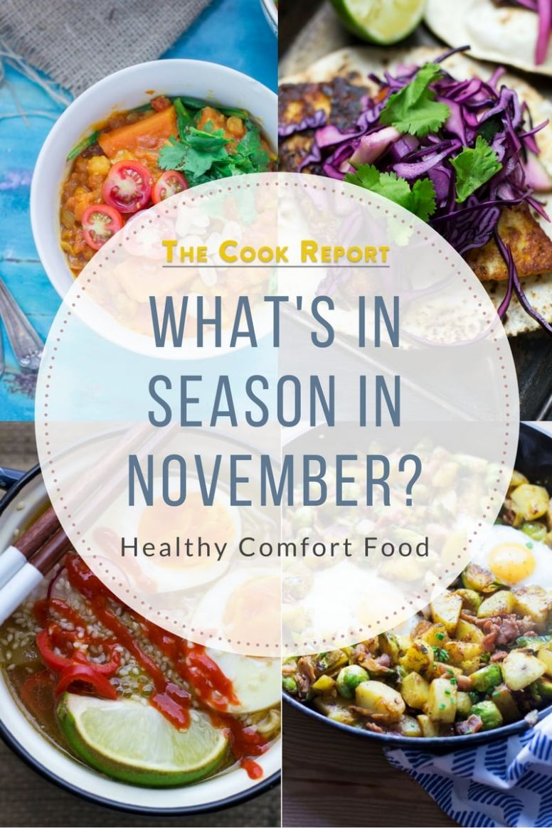 What's in Season in November? Healthy Comfort Food • The Cook Report