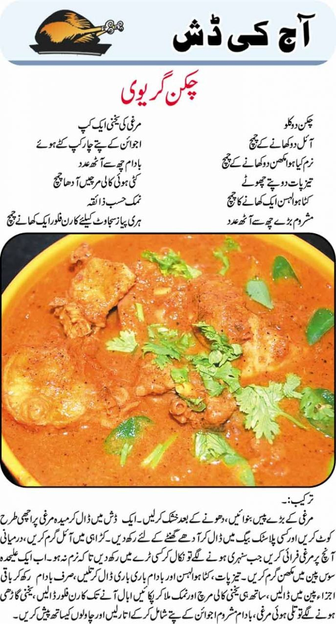White Chicken Recipe In Urdu Chicken gravy recipe in urdu ...
