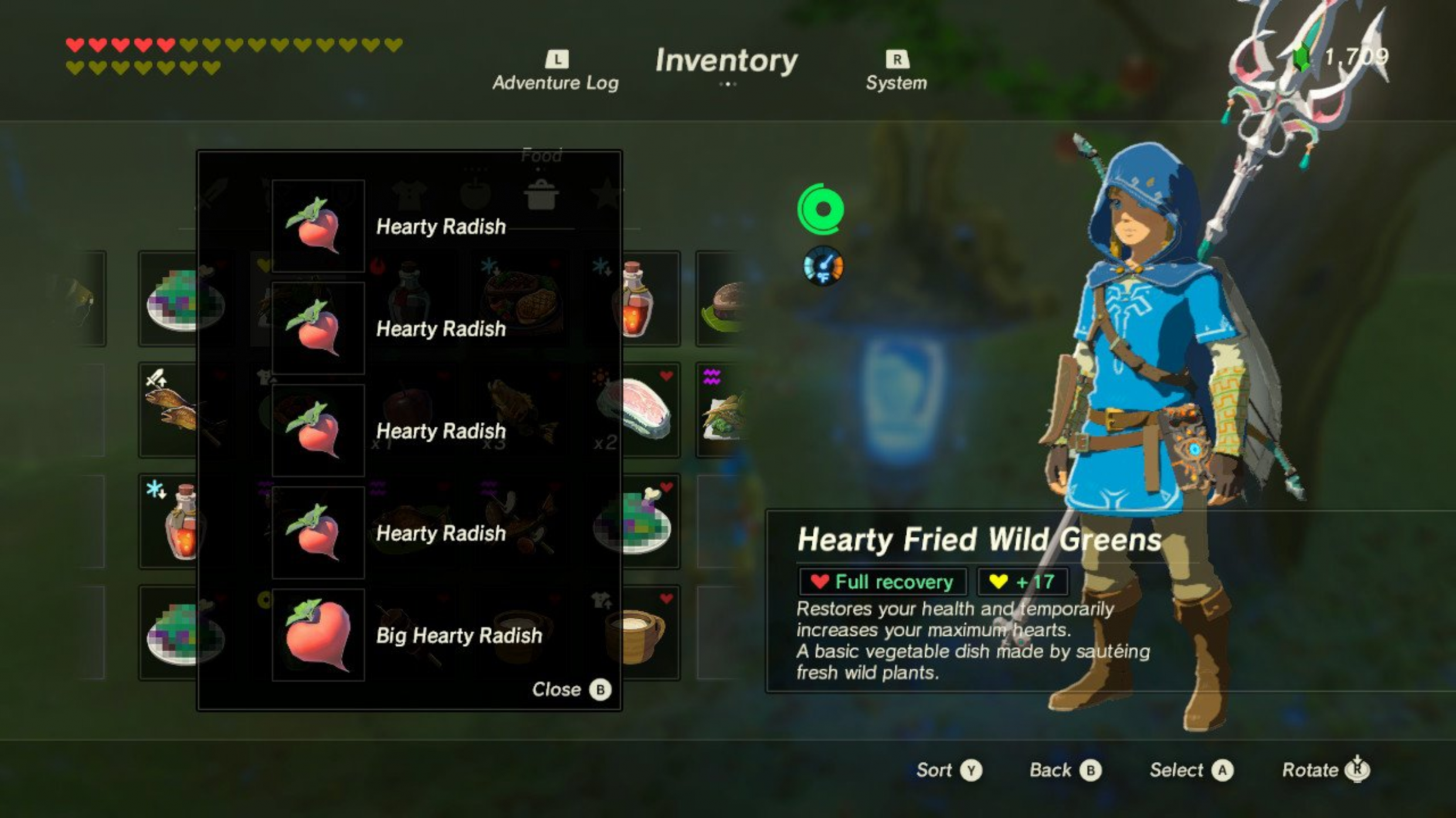 Who needs heart containers when there is radish? : Breath_of_the_Wild - Cooking Recipes Botw